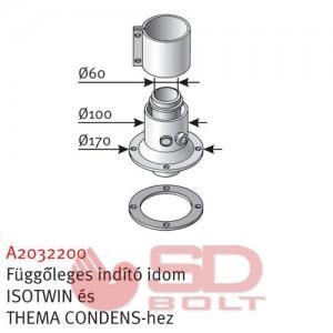 Saunier Duval SDC 60/100 függőleges indító (isotwin Condens, thema Condens)